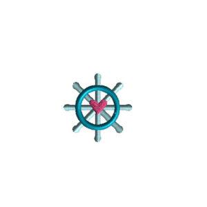 Mini Ship Helm Machine Embroidery Design