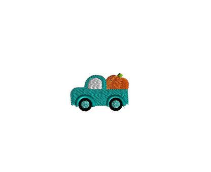 Mini Pumpkin Truck Machine Embroidery Design 2