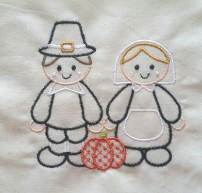 Pilgrims Applique Machine Embroidery Design 3