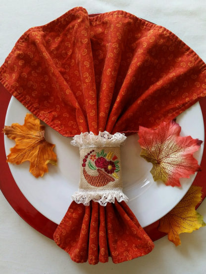 Cornucopia Floral Machine Embroidery Design 2