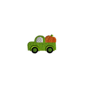 Mini Pumpkin Truck Machine Embroidery Design 1