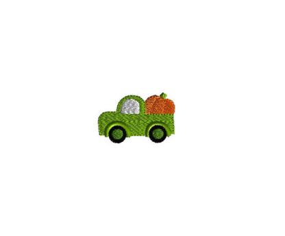 Mini Pumpkin Truck Machine Embroidery Design 1