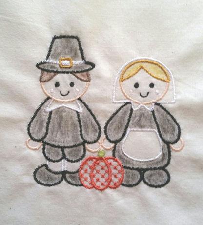 Pilgrims Applique Machine Embroidery Design 2
