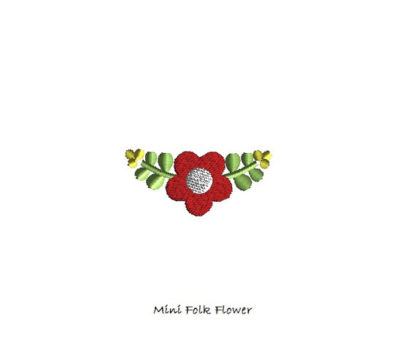 Mini Folk Flower Machine Embroidery Design