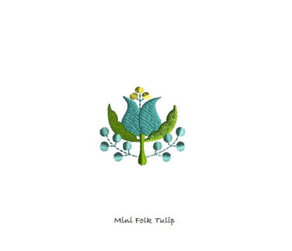 Mini Folk Tulip Machine Embroidery Design