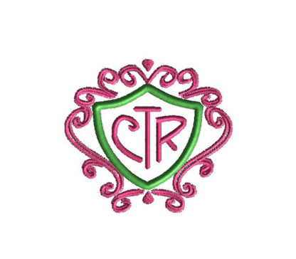 CTR and Swirls Applique Machine Embroidery Design 2