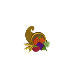 Mini Cornucopia Machine Embroidery Design