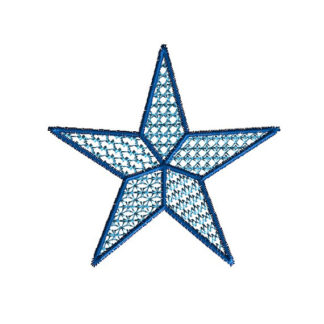 Lace Motif Star Machine Embroidery Design 1