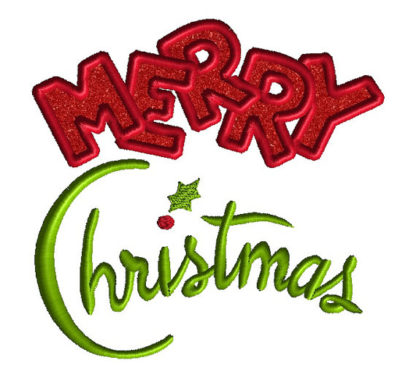 Merry Christmas Applique Machine Embroidery Design 4