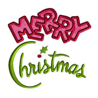 Merry Christmas Applique Machine Embroidery Design 1
