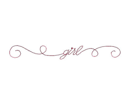 Doodle Girl Machine Embroidery Design
