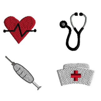 Mini Nurse Machine Embroidery Designs Set