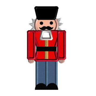 Nutcracker Applique Machine Embroidery Design 1