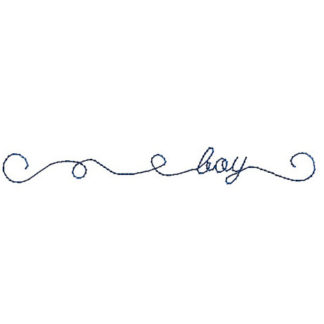Doodle Boy Machine Embroidery Design