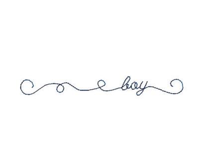 Doodle Boy Machine Embroidery Design