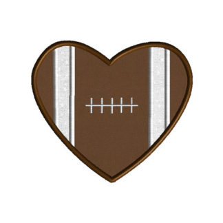 Heart Football Applique Machine Embroidery Designs 1