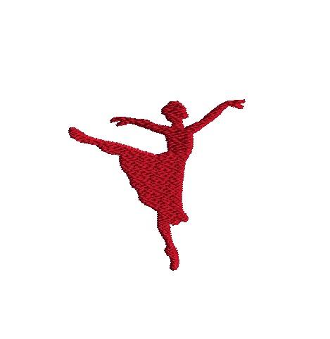 Mini Ballet Silhouette 4 Machine Embroidery Design