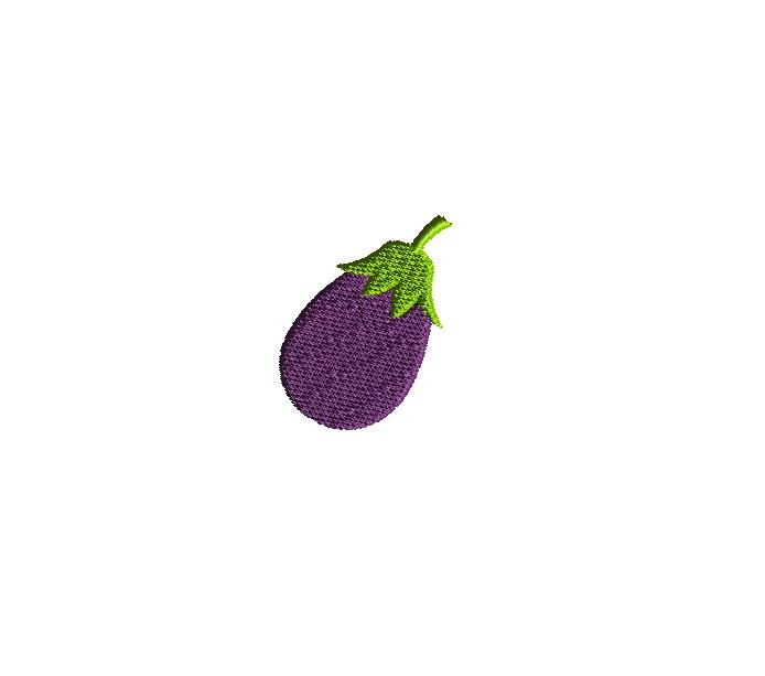 Mini Vegetables Machine Embroidery Design Set