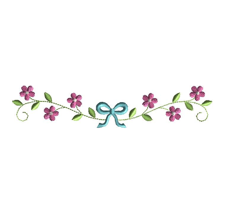 Daisy chain machine embroidery design