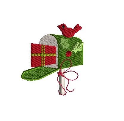 Christmas Mailbox.Mini Christmas Mailbox Machine Embroidery Design