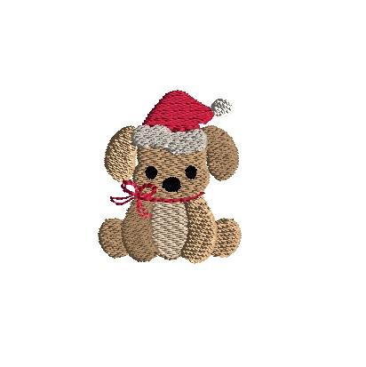 f0568ecdc5e Mini Dog in Santa Hat Machine Embroidery Design-3 sizes -
